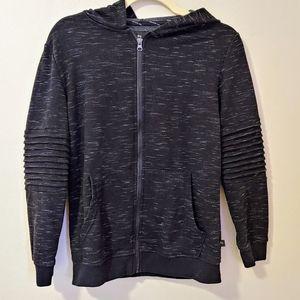 3/$25 Boys Art Class zip up hoodie moto arm